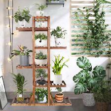 "New ListingStylish 52"" Height Carbonized Wood Plant Stand Tiered Corner Flower Ladder Shelf"