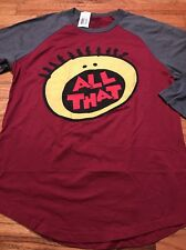 NWT Nickelodeon All That Raglan Shirt Men's Size Small Slim Fit