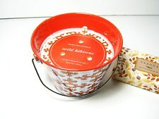 LARGE 3 WICK SCENTED CANDLE IN REUSABLE TIN-WILD HIBISCUS  w/ LARGE BOX MATCHES