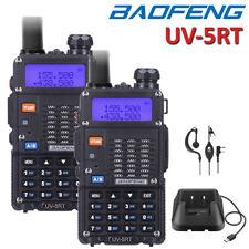 2x Baofeng Uv-5r Dual Band Portable Walkie Talkie 5w Two Way FM Radio Green