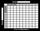 5 Pack - Scratch-Off Football Square Grid - 100 Squares Office Pool