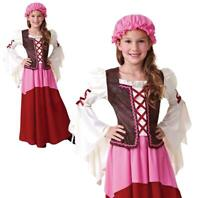 Childrens Girls Little Tavern Costume Medieval Fancy Dress Outfit Book Week