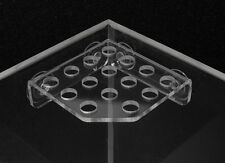 FRAG RACK corner mounted clear acrylic- holds 15 coral frag plugs