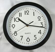 Wanduhr Quarz Ø 22cm schwarz Küchenuhr Werkstattuhr Bürouhr Uhr Neu ...