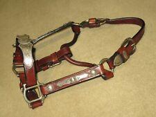 Nwot Vintage Billy Royal Western Show Halter~Rope Edge Sterling Silver~Weanling