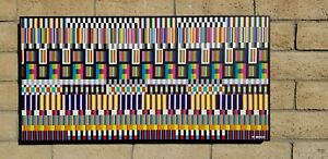 """ABSTRACT GEOMETRIC PAINTING BY RALPH BERKO """"COMPUTER CHIPS"""""""