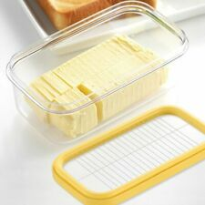 Butter Slicer Cutter Slicer Bread Cake Cheese Glass Keeper Storage Container New