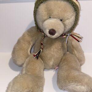 Russ Harvest Moon Vintage Plush Stuffed Animal Bear With Tassel Hat