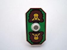 Lego 1 x Schild achteckig 48494pb02 grün Affe Ritter Rascus 8781 8780 8799