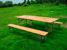 Set birreria 220 x60cm tavolo e panche sedute in legno pieghevoli per feste pub