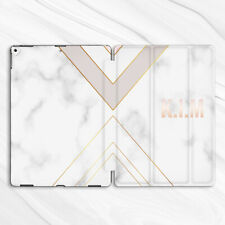 Personalized White Marble Case For iPad Pro 9.7 10.2 10.5 11 12.9 Air Mini 2 3 5