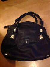 RISK Chocolate Brown Soft Leather Large Hobo Slouchy Shoulder Handbag