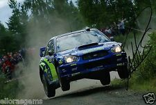 "Petter Solberg World Rally Champion 03 Subaru Impreza Hand Signed Photo 12x8"" BS"