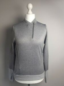 ADIDAS Ladies grey Marl Running Sports Top Size 12-14 M