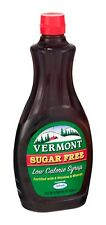 Maple Grove Vermont Sugar Free Syrup,  24 OZ (Pack of 6)