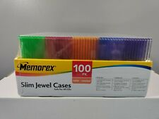 New Memorex Multi Color Slim Jewel Cases 100 Pack With Inserts For Dvd Amp Cds