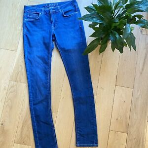 Jigsaw Size 28 (10) Richmond skinny jeans navy distressed classic fitted jeans
