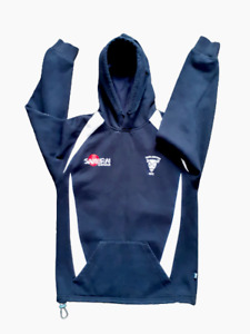 """Darlington RFC Hoodie Long Sleeved black with Pockets 40"""" Chest"""