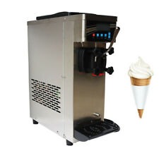 Techtongda 110v Table Top Soft Ice Cream Machine Single Cylinder 10 15lh