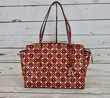 GUESS Devyn Large Satchel Tote Bag Ruby Multi MSRP $98