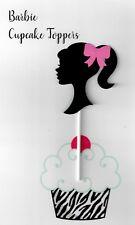 Barbie birthday cupcake topper cutout set of 18