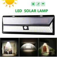 118 LED Solar Power Light PIR Motion Sensor Outdoor Garden Wall Lamp Waterproof