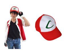 Anime Pokemon ASH KETCHUM trainer costume cosplay Hat Cap Fancy Style Quality