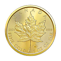 Lot of 10 x 1 oz 2021 Canadian Maple Leaf Gold Coin