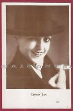 CARMEN BONI 12 ATTRICE ACTRESS CINEMA MOVIE STAR - CAPPELLO HAT Cartolina FOTOGR