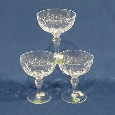 "New listing 3 Stuart Crystal Hampshire 4⅜"" Champagne or Tall Sherbet Glasses"