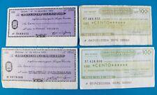 4x 100 lire cento Banca Cattolica/Trento Bolzano Italy banconote bill 1976