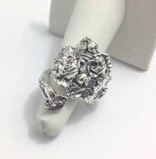 Sterling, Silver, Spoon Ring, Jewelry, Roses, Love, Gift (bin.#104)