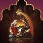 Resin Figurine Holy Family Nativity Scene Statue Mary Joseph Miniature Sculpture