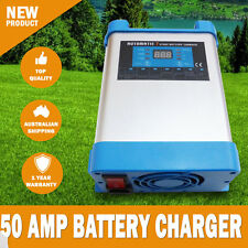 NEW 7 Stage 50 AMP Fully Automatic Caravan Battery Charger Suits 40 to 300Ah