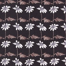 LEONARD STUDIO Floral Daisy Print on Black Sleek Silk Neck Tie