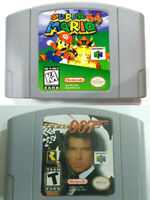 Super Mario 64 &GOLDENEYE 007 Video Game Cartridge Console Card For Nintendo N64