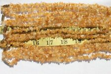 "Handcrafted Citrine Gemstone Chip Necklace Jewelry Necklaces 17 1/2"" long/RS98"
