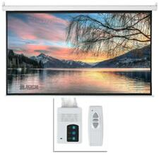"""Leadzm 92"""" 16:9 HD Foldable Electric Motorized Projector Screen + Remote White"""