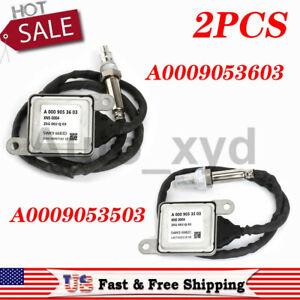 2PCS Nox Sensor A0009053503+A0009053603 For Mercedes-Benz W166 W205 ML320 ML350