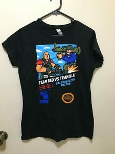 Team Red VS Team Blu Blue Balloonicorn Team Fortress T-Shirt Size L