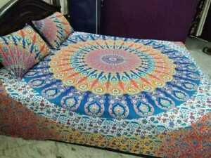 Indian Mandala Quilt Cover Cotton Duvet Cover Comforter Set Bedding With Pillow