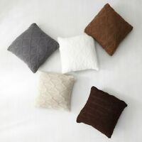 Throw Pillow Cover Cushion Case Cable Knit Sofa Chair Bed Home Decor Retro New