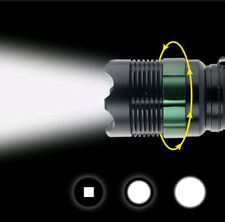 NEW 10000LM T6 LED Rechargeable Tactical Waterproof 18650/AAA Torch Flashlight