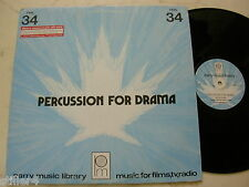 LIBRARY PARRY MUSIC PERCUSSION FOR DRAMA Music By Eric Allen *CANADA LIBRARY LP*