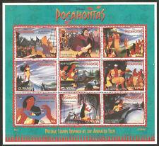 GUYANA Sc# 2985 - 2987 MNH FVF Set-3X Sheetlet Disney Pocahontas Capt John Smith