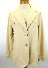 Lauren Ralph Lauren Beige Linen Blend Blazer Jacket Topper Coat Pockets 16