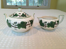 Vintage WEDGWOOD NAPOLEON IVY Sugar Bowl & Creamer Set Excellent Condition