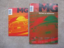 MG brochure/magazine et liste des prix 2001-Driven aux extrêmes