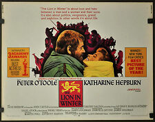 "THE LION IN THE WINTER 1969 ORIGINAL 22X28 ""AA"" MOVIE POSTER KATHARINE HEPBURN"