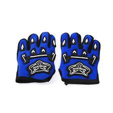 BLUE Kids Racing Motorcycle Gloves Motor Bike Push Gear Motocross ONE SIZE